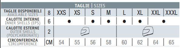 nolan N70-2X motorhelm maat tabel