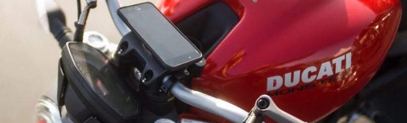 telefoonhouder motor iphone