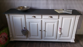 Dressoir warm black / white