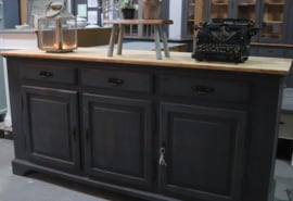 Vintage industrieel dressoir black