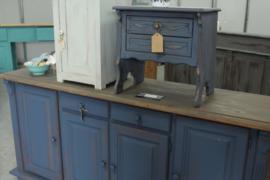 Dressoir vintage brocante blue