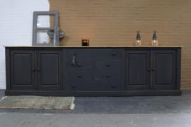 Grote dressoir kast vintage black