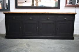 Grote robuuste industriele dressoir kast  black