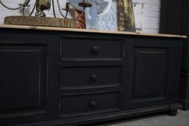 Tv kast vintage industrieel black