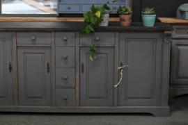 Dressoir / keukenkast grijs brocante