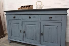 Prachtige boeren dressoir kast vintage blue