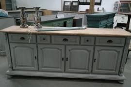 Dressoir/keukenkast landelijk grijs