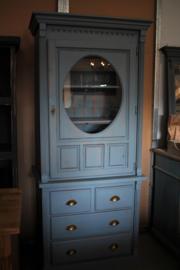 Vintage blue vitrine / buffetkast