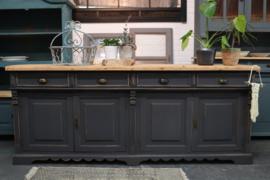 Dressoir vintage boho industrieel black