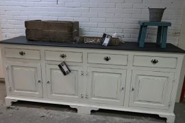 Dressoir / Keukenkast wit brocante