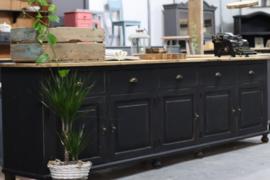 Grote industriële vintage dressoir kast black