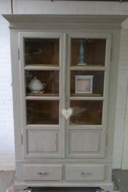 Buffetkast /vitrinekast vintage brocant