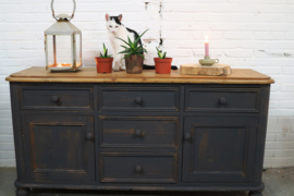 Dressoir brocante vintage black