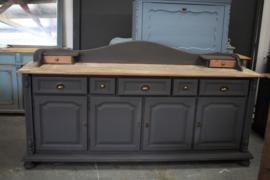 Grote vintage industriele dressoir kast  black