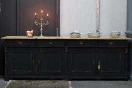 Dressoir groot vintage old kabinet  black