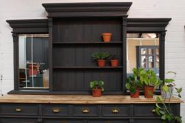 Buffetkast / dressoir botanisch vintage black