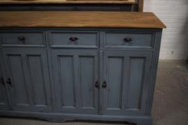 Boerenkast vintage blue
