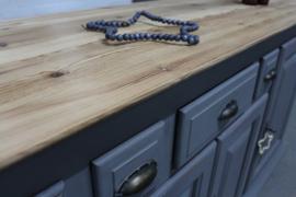 Dressoir kast / keukenkast landelijk grijs