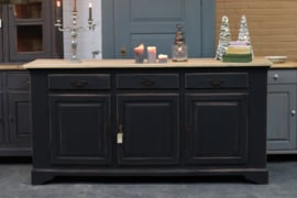 Dressoir eiken industrieel black