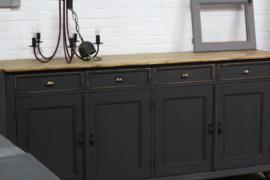 Dressoir / keukenkast warm black industrieel stoer