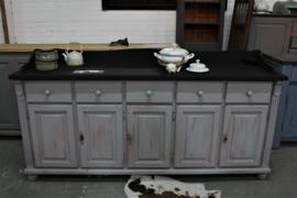 Dressoir grijs vintage, landelijk en industrieel