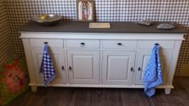 Prachtig dressoir wit / grijsblad