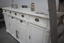 Dressoir/ keukenkast old white brocante