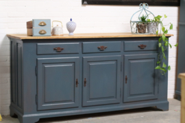 Dressoir eiken vintage blue chique