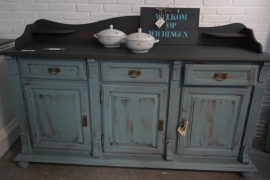 Dressoir / keukenkast oud groen