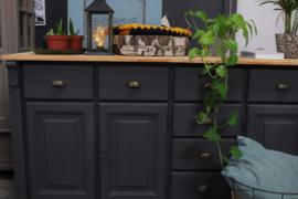 Dressoir / keukenkast industrieel black