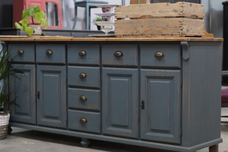Dressoir / keukenkast vintage industrieel