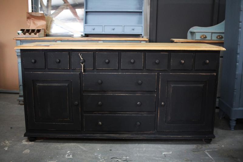 Apothekerskast / dressoir industrieel black
