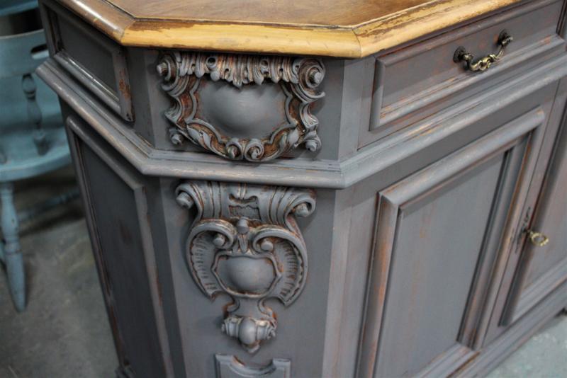 Dressoir Kast Antiek Vintage Grijs Verkocht Voorbeelden