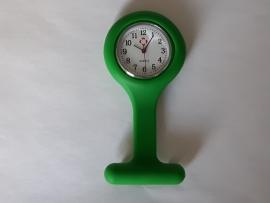 Horloge voor verpleegkundigen met siliconen hanger Donker GROEN