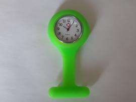 Horloge voor verpleegkundigen met siliconen hanger LIME