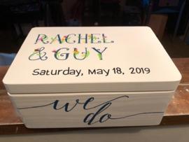 Trouwkistje / huwelijkskistje Rachel en Guy