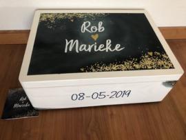 Trouwkistje / huwelijkskistje Rob en Marieke