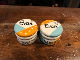 Tandendoosje en haarlokdoosje Evan