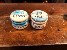 Tandendoosje en haarlokdoosje Leon