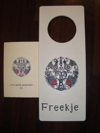 Deurhanger voor Freekje