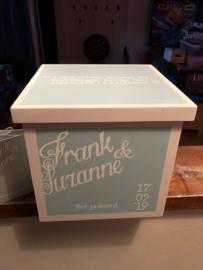 Trouwkistje / huwelijkskistje Frank en Suzanne