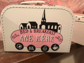Koffertje voor opening bed and breakfast