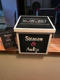 trouwkistje Simon en Aukje