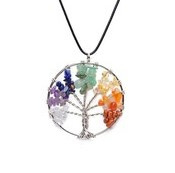 Chakra Rainbow Tree of Life pendant