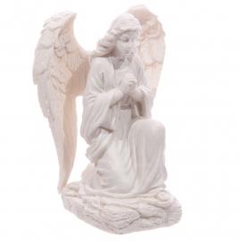 Witte Engel, knielend
