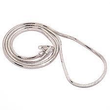 Slangenketting van 925 Sterling Zilver 50 Cm