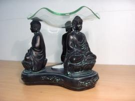 Boeddha op lotus zwart