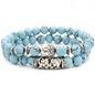 Turquoise kralen Boeddha armband