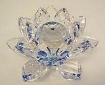 Kristal Lotus blauw