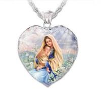 Hanger Maagd Maria met Kind Hartvorm.